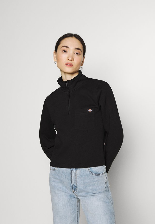 OAKPORT QUARTER ZIP - Mikina - black