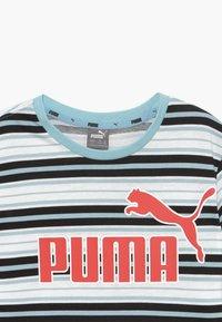 Puma - STRIPE LOGO TEE - Camiseta estampada - aquamarine - 3