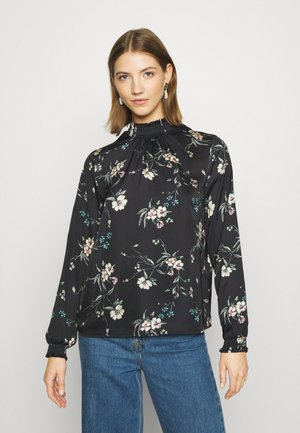 VISOFIE HIGH NECK SMOCK  - Blouse - black