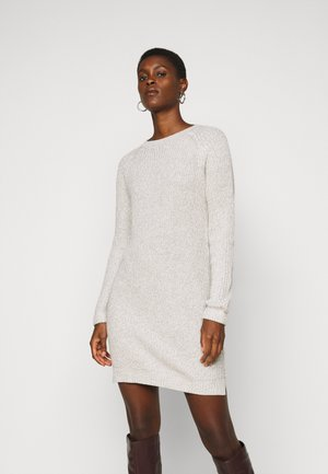 NMSIESTA O NECK DRESS - Etuikjole - oatmeal