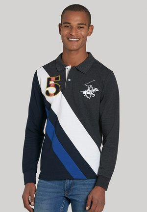 Poloshirt - w dark grey