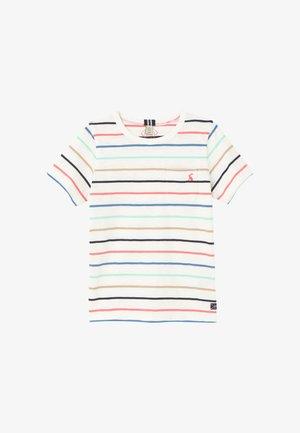 Print T-shirt - weiß bunt gestreift