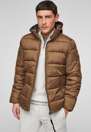 ABNEHMBARER KAPUZE - Winter jacket - brown
