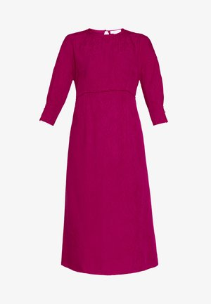 TRIM DETAIL MIDI DRESS - Vestido informal - pink