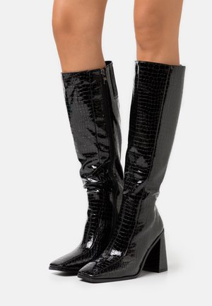 VEGAN - High heeled boots - black