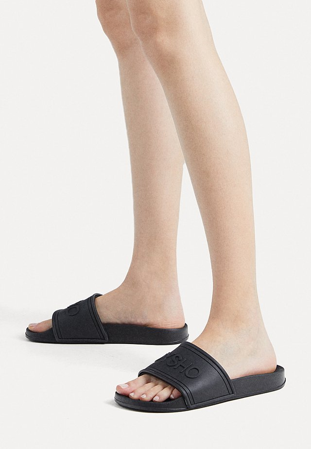 BADESANDALEN MIT LOGO 11306580 - Pool slides - black