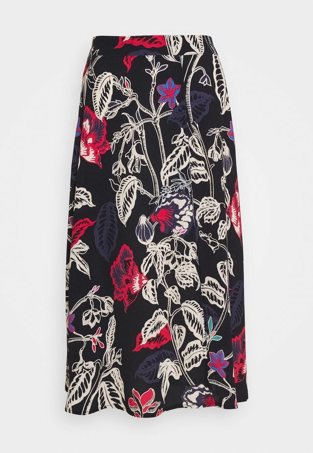 PRINTED SKIRT - Jupe trapèze - black