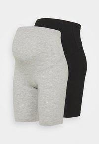 ONLY - OLMLOVELY 2 PACK - Shorts - black/light grey - 0