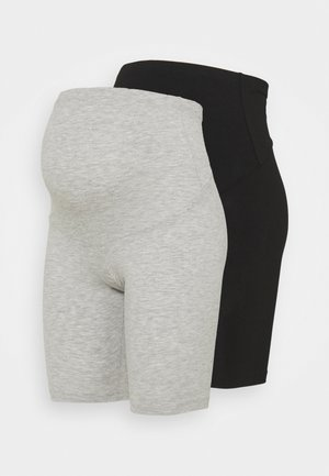 OLMLOVELY 2 PACK - Shorts - black/light grey