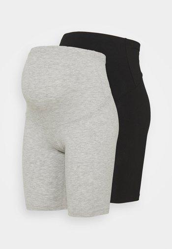 OLMLOVELY 2 PACK - Shorts - black/light grey