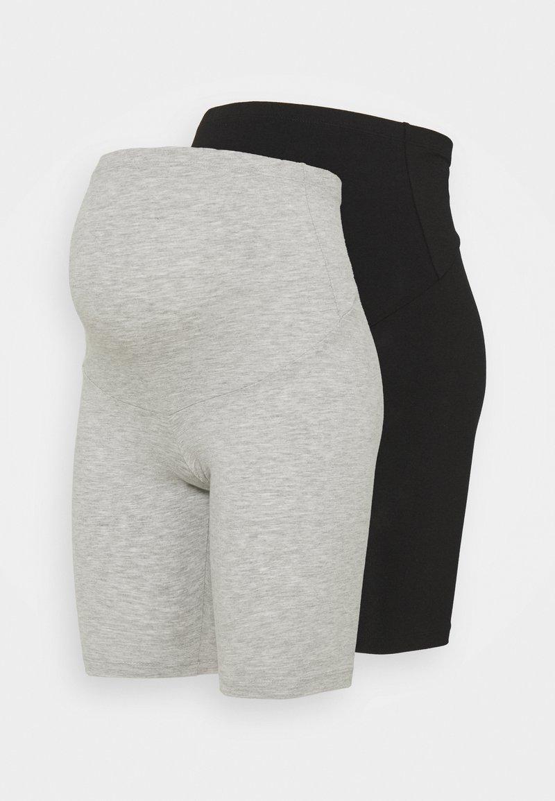 ONLY - OLMLOVELY 2 PACK - Shorts - black/light grey
