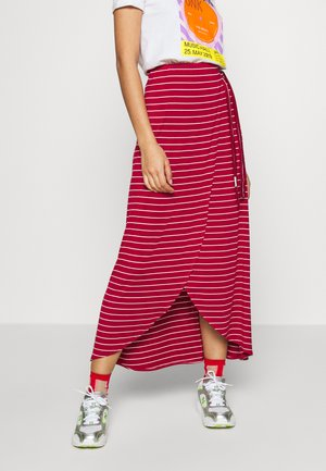 ADELKA - Zavinovací sukně - red