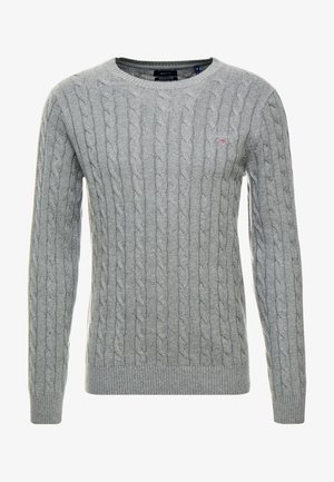 CABLE CREW - Jumper - dark grey melange
