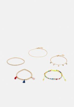 BELINIEL 5 PACK - Armbånd - bright multi/gold-coloured
