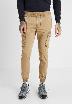 Cargo trousers - tan