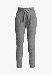 Vero Moda - VMEVA PAPERBAG CHECK PANT - Bukse - grey/white - 3