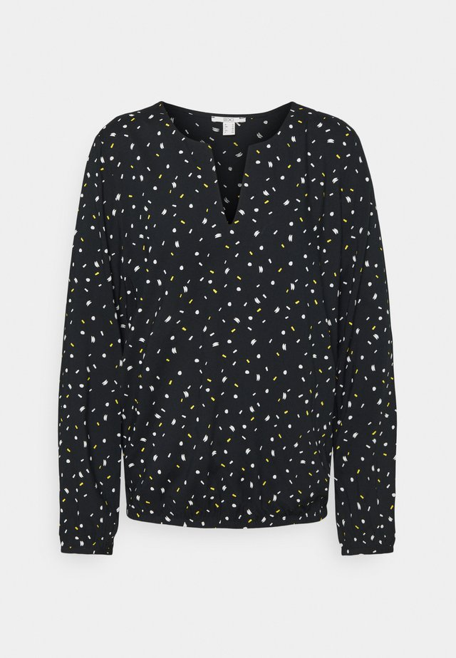 PRINT BLOUSE - Bluzka - black