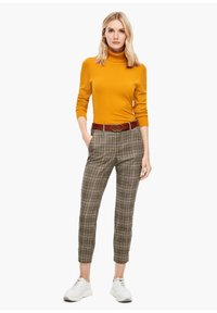 s.Oliver - Trousers - brown check - 1
