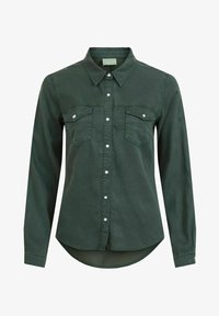 Vila - Button-down blouse - darkest spruce - 4
