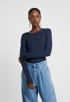 CREW - Long sleeved top - true indigo