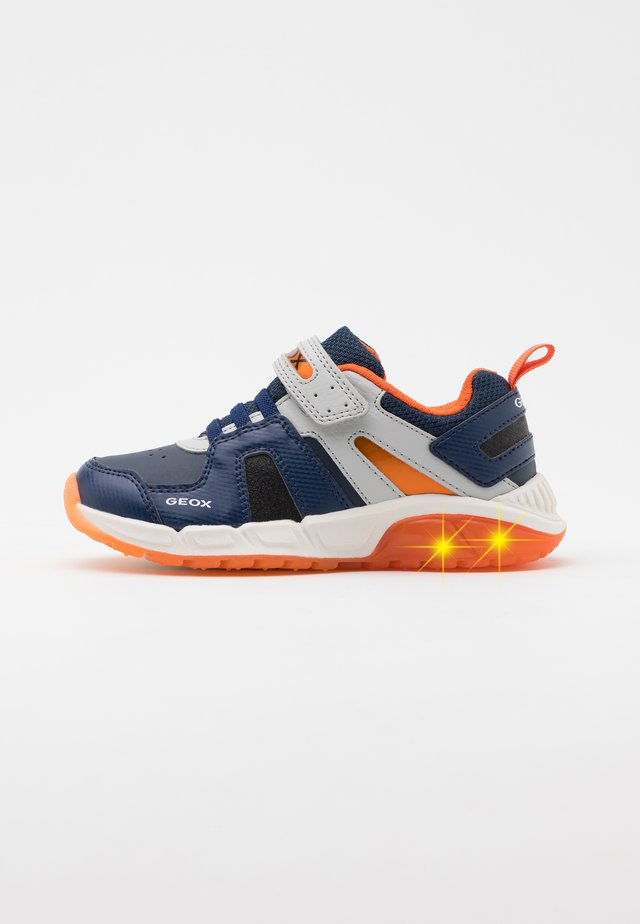 SPAZIALE BOY - Zapatillas - navy/orange