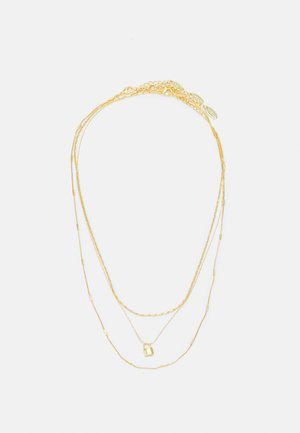 MINI PADLOCK ROW NECKLACE 3 PACK - Necklace - pale gold-coloured