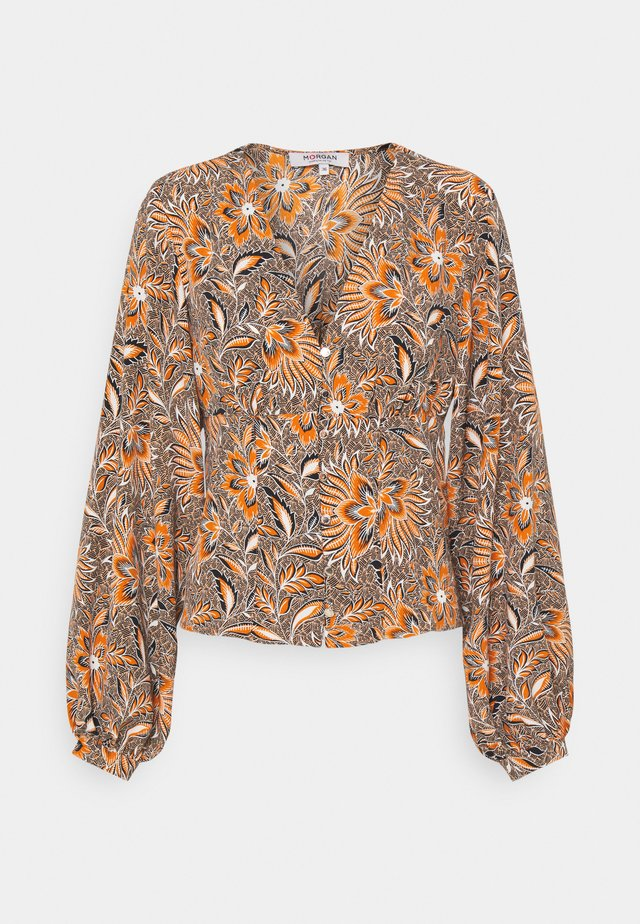Long sleeved top - multicoured