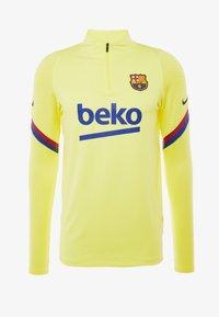 FC BARCELONA DRY DRIL - Klubové oblečení - sonic yellow/sonic yellow/dark obsidian