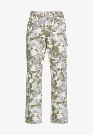 HIGH WAIST CARPENTER - Jeans a sigaretta - camou twill