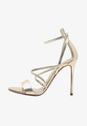 High heeled sandals - metal platin