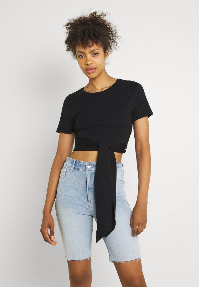 WRAP AROUND TEE - Basic T-shirt - black