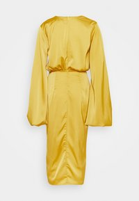 Missguided - BALLOON SLEEVE WRAP FRONT DRESS - Occasion wear - lime - 1