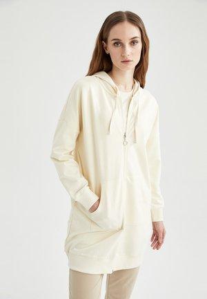 Zip-up hoodie - ecru