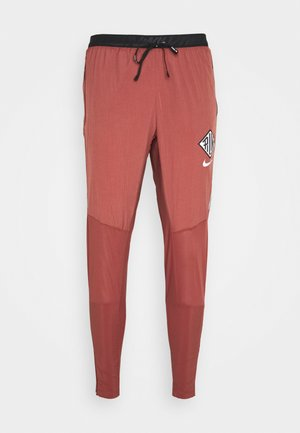 ELITE PANT - Pantalones deportivos - claystone red/reflective silver