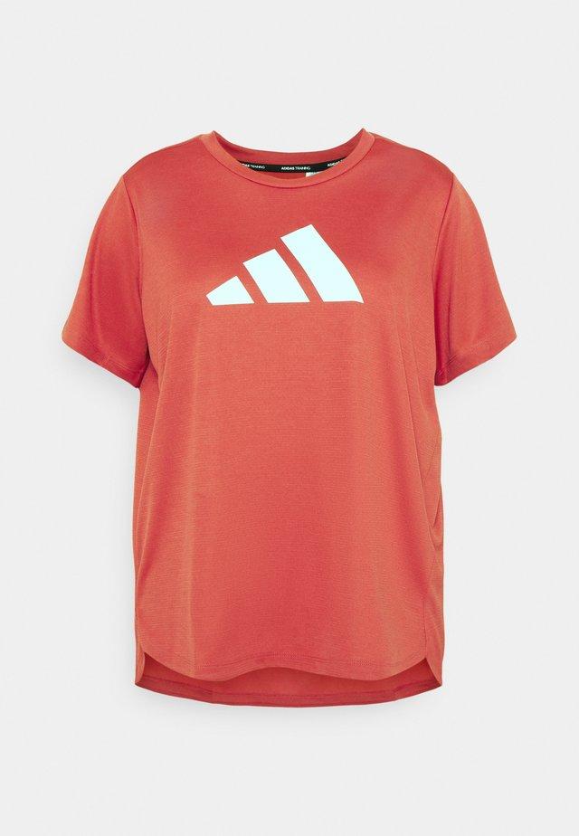 LOGO TEE - T-shirt print - crew red/white