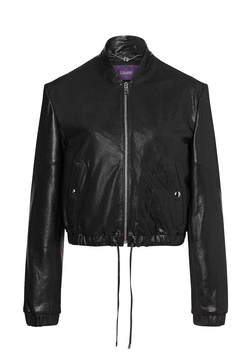 Laurel - Leather jacket - schwarz