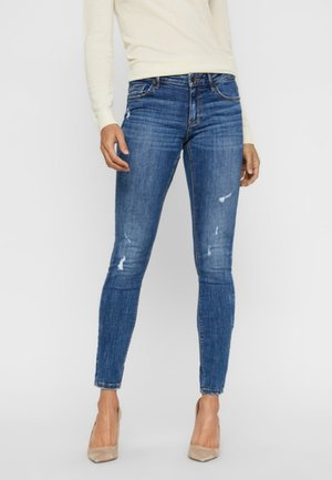 VMLYDIA LOW WAIST - Skinny-Farkut - dark blue denim