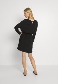 Vila - VISAY TIE BELT DRESS - Day dress - black - 2