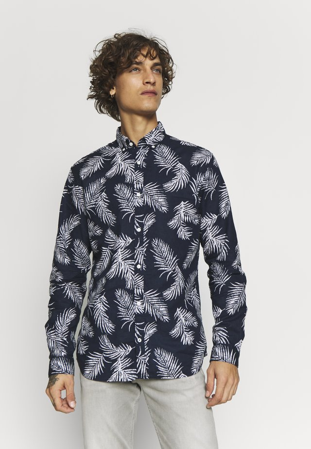 JPRBLASUMMER LEAF - Shirt - navy