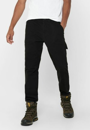 WORKWEAR - Cargo trousers - black