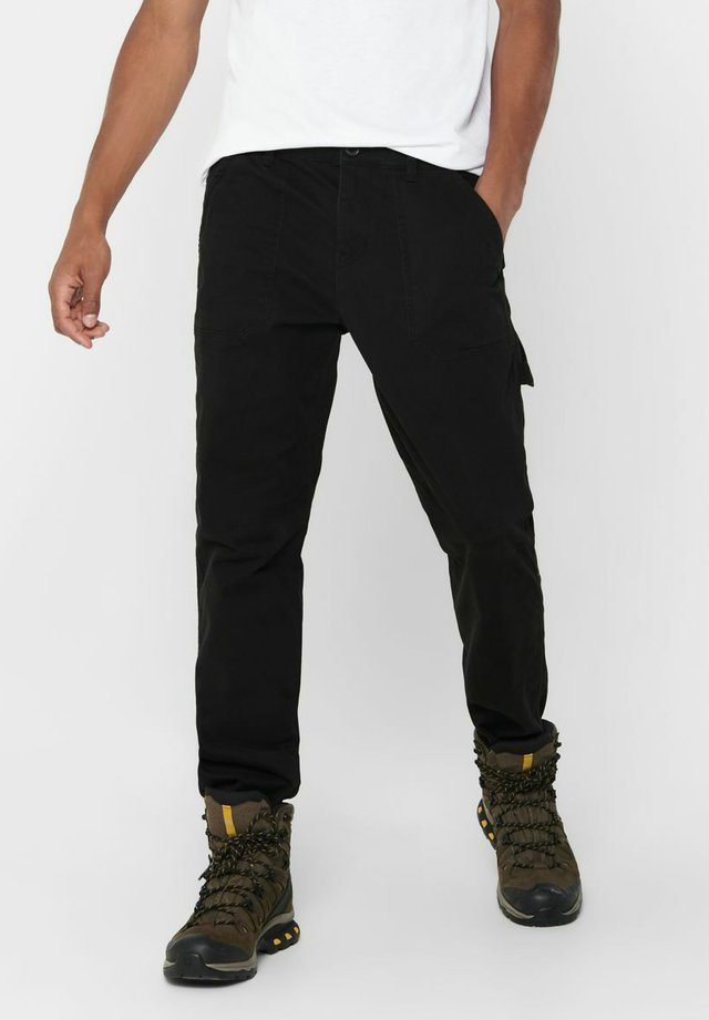 WORKWEAR - Cargo trousers - black