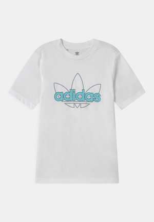 OUTLINE TREFOIL UNISEX - Print T-shirt - white