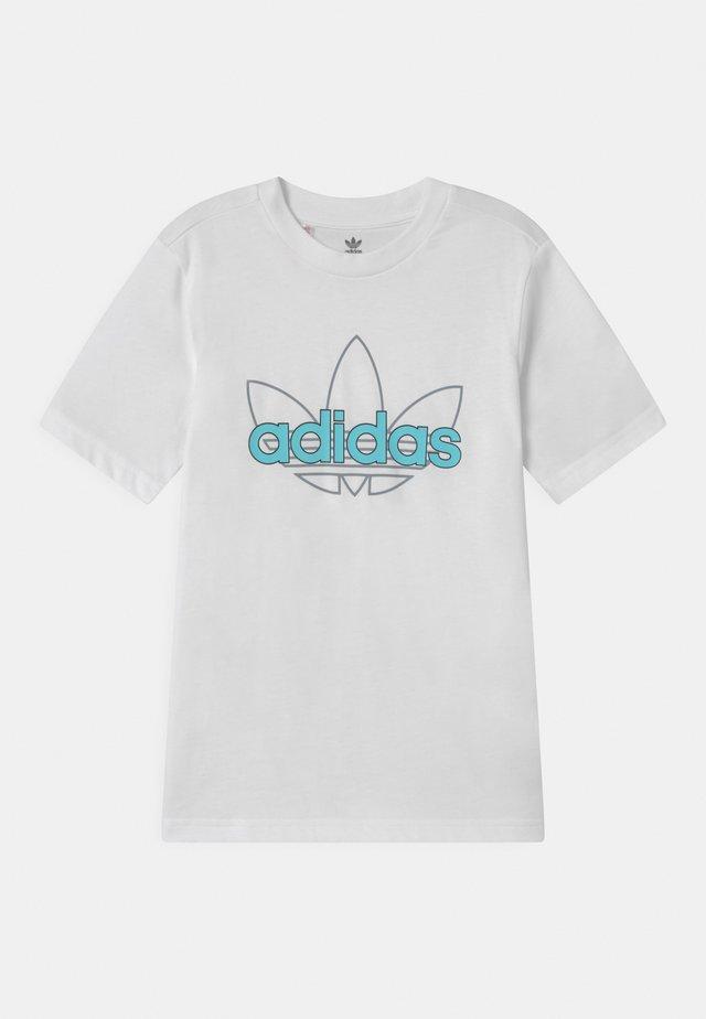 OUTLINE TREFOIL UNISEX - Print T-shirt - white
