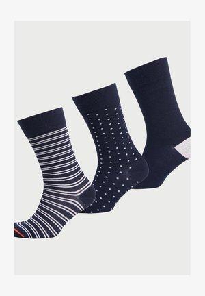 3 PACK - Socks - navy stripe/navy dot/navy
