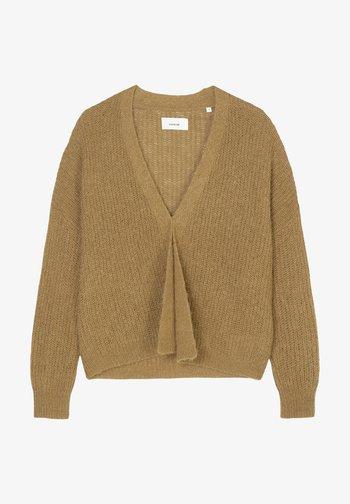MIT EDLER ALPAKA-WOLLE - Cardigan - brown ochre