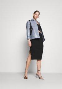 Missguided - SIDE SPLIT SKIRT - Pencil skirt - black - 1