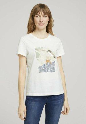 Camiseta estampada - dove white