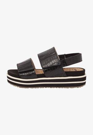 SAGA - Platform sandals - schwarz