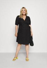 ONLY Carmakoma - CARMILLE LIFE DRESS - Day dress - black - 1