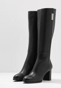 HUGO - VICTORIA BOOT - Boots - black - 4